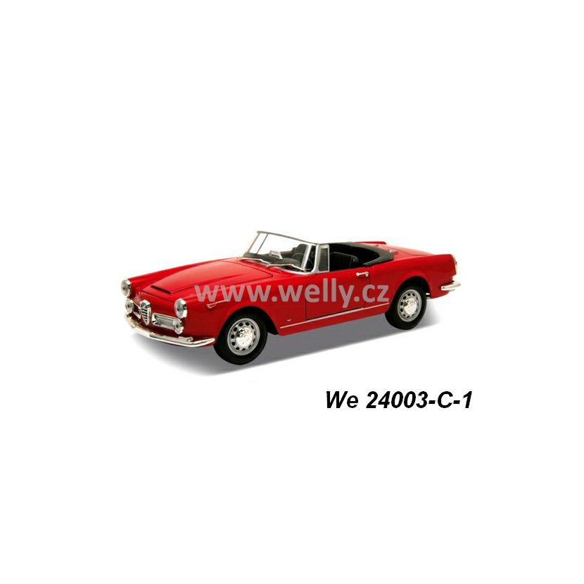Welly 1:24 Alfa Romeo 1960 Spider 2600 Convertible (red
