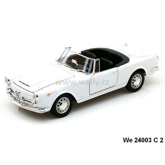 Welly 1:24 Alfa Romeo 1960 Spider 2600 Convertible (white
