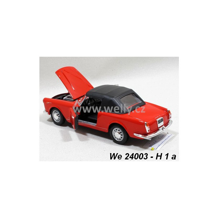Welly 1:24 Alfa Romeo 1960 Spider 2600 Soft-top (red