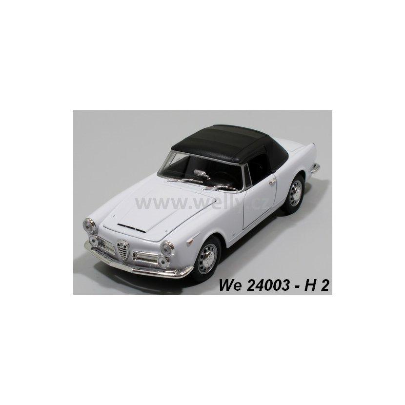 Welly 1:24 Alfa Romeo 1960 Spider 2600 Soft-top (white